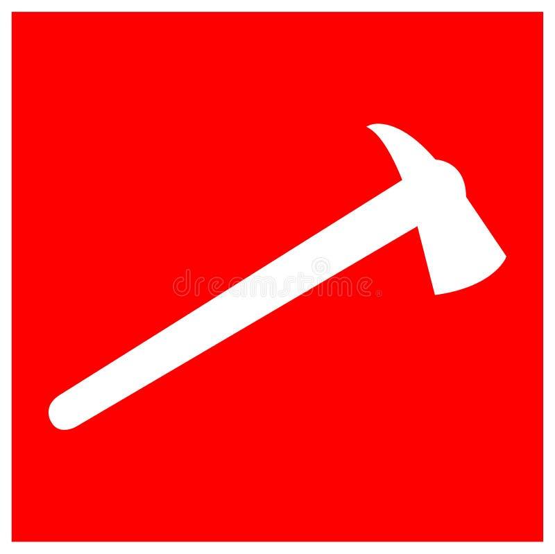 Isolat de signe de symbole de HACHE du feu sur le fond blanc, illustration ENV de vecteur 10 illustration libre de droits