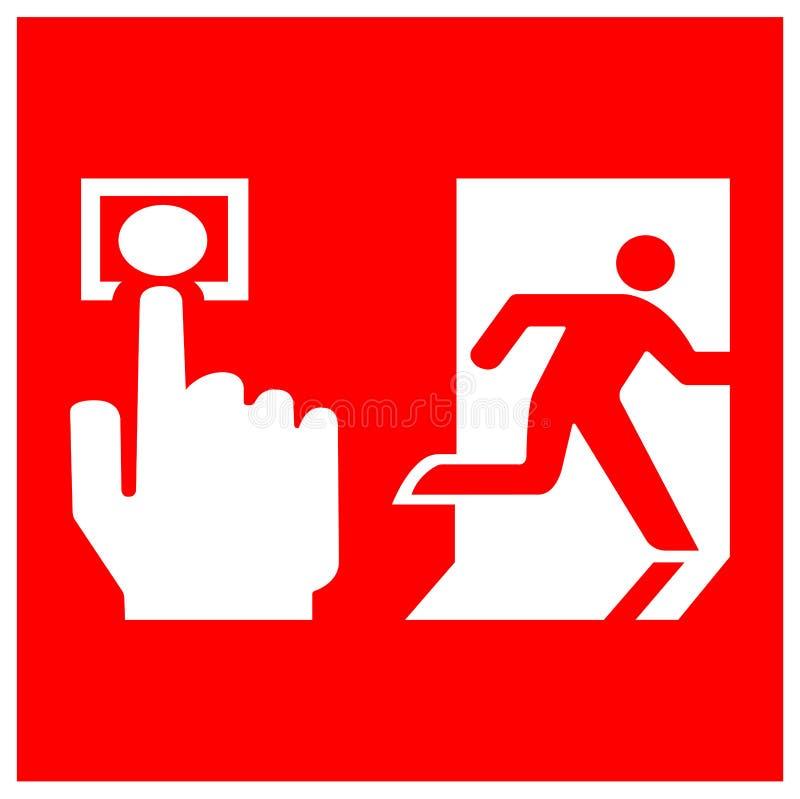 Isolat de signe de symbole de point d'appel d'alarme d'incendie sur le fond blanc, illustration ENV de vecteur 10 illustration libre de droits
