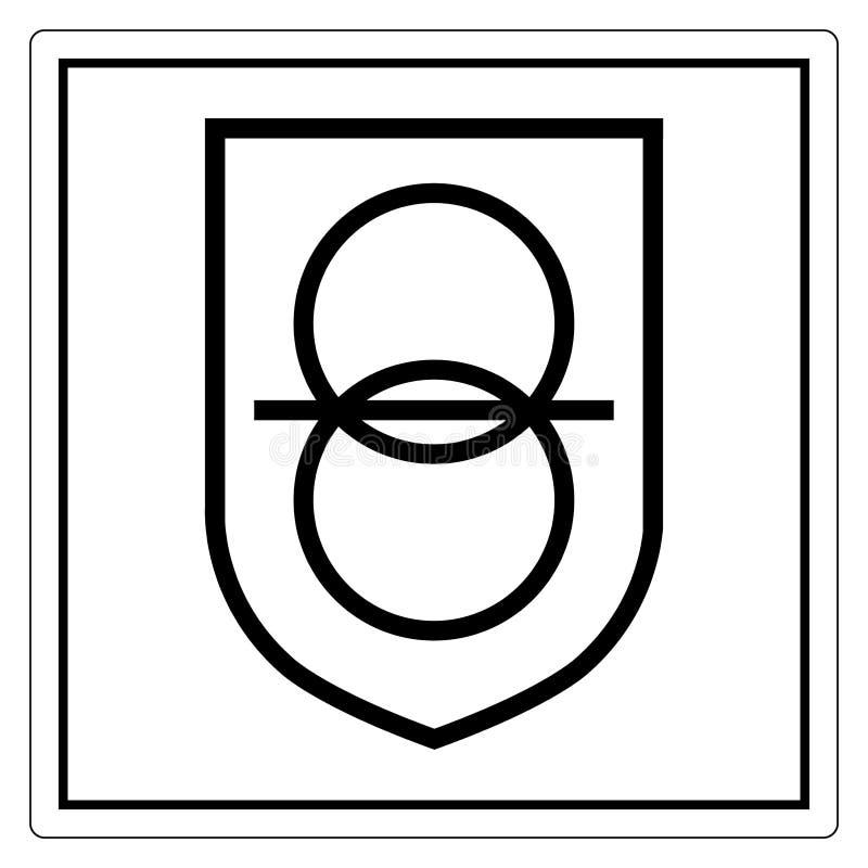 Isolat de signe de symbole de transformateur d'isolement de sécurité sur le fond blanc, illustration ENV de vecteur 10 illustration libre de droits