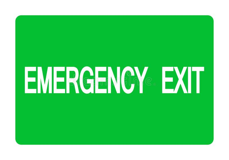 Isolat de symbole de sortie de secours sur le fond blanc, illustration ENV de vecteur 10 illustration de vecteur