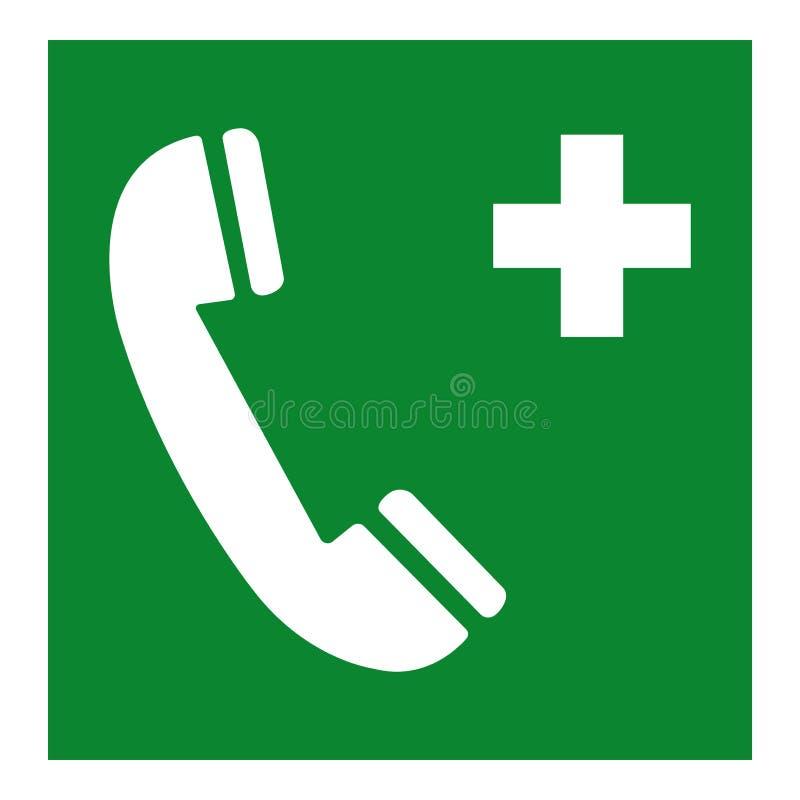 Isolat de symbole de téléphone d'urgence sur le fond blanc, illustration ENV de vecteur 10 illustration libre de droits