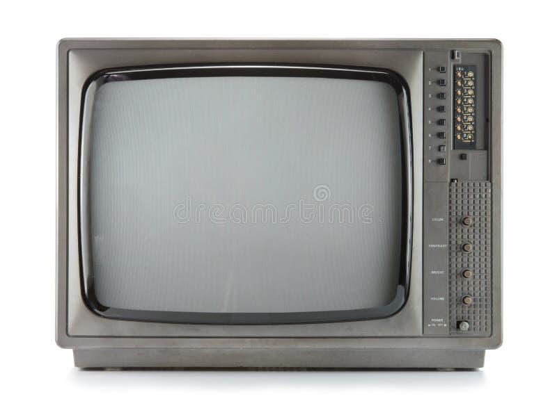 Isolat de télévision de vintage sur le blanc photos libres de droits
