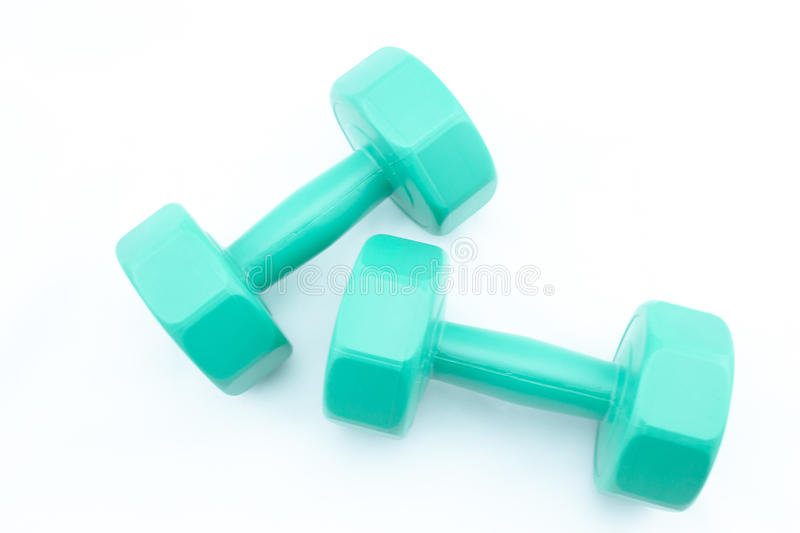 Isolat Dumbell stockfoto