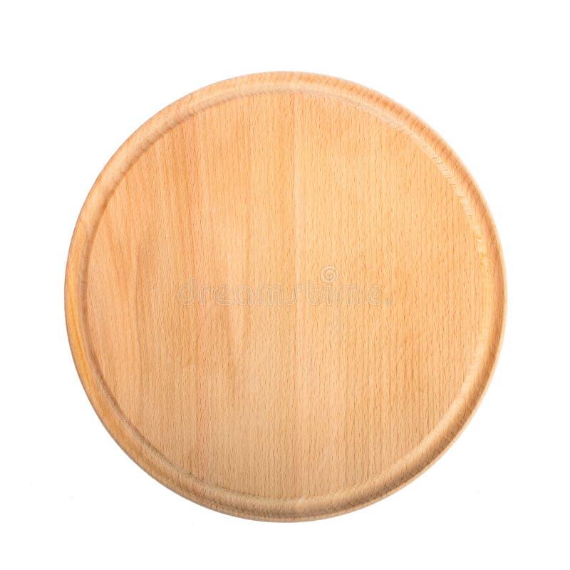 Isolat en bois rond de planche à découper photographie stock