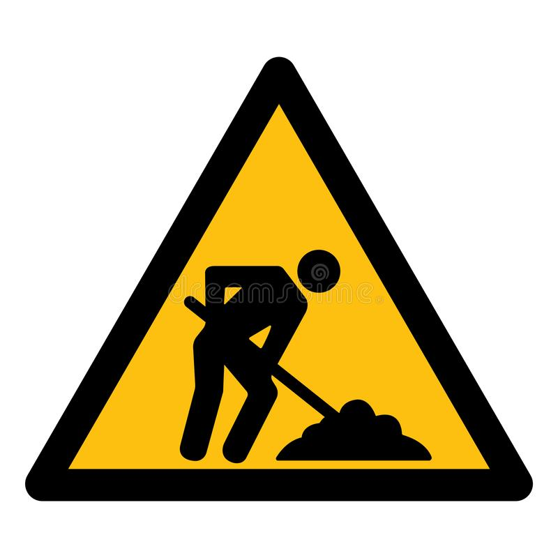 Isolat en construction de signe de symbole sur le fond blanc, illustration ENV de vecteur 10 illustration libre de droits