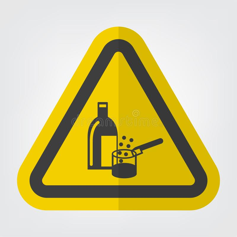 Isolat en service de signe de symbole de produits chimiques sur le fond blanc, illustration ENV de vecteur 10 illustration libre de droits