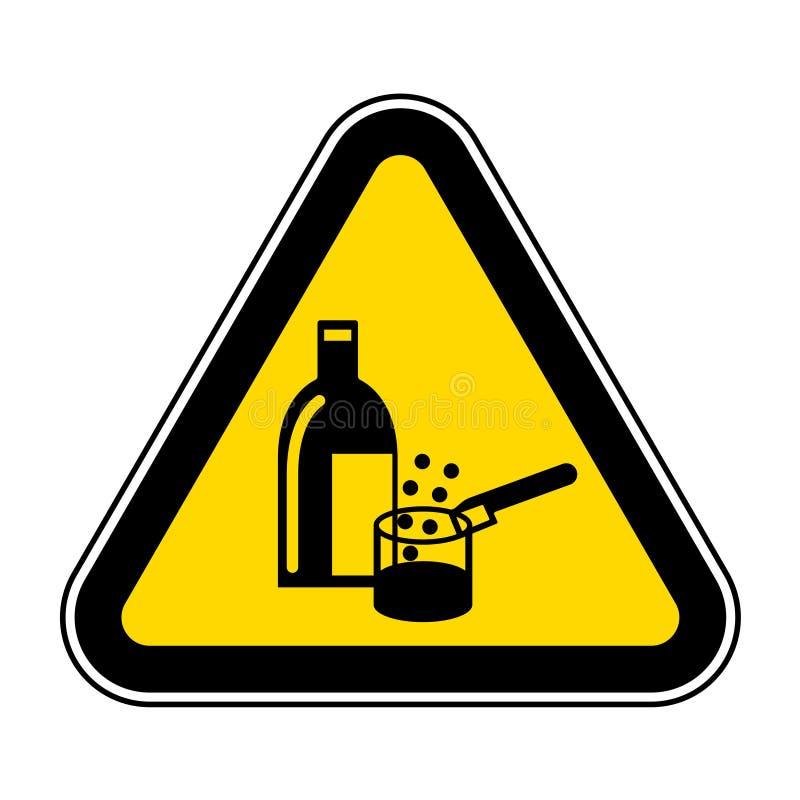 Isolat en service de signe de symbole de produits chimiques sur le fond blanc, illustration ENV de vecteur 10 illustration de vecteur