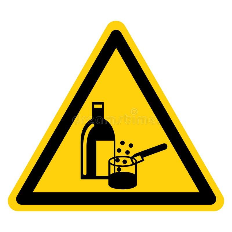 Isolat en service de signe de symbole de produits chimiques sur le fond blanc, illustration de vecteur illustration stock
