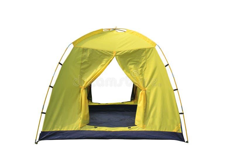 Isolat för campa tält för kupol på vit bakgrund royaltyfri foto