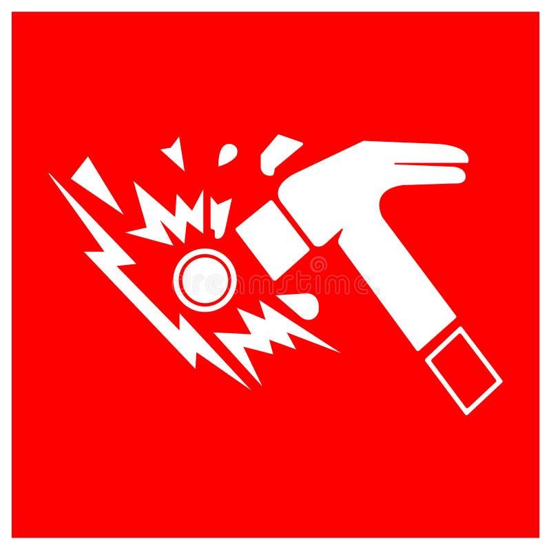 Isolat för tecken för avbrottsexponeringsglassymbol på vit bakgrund, vektorillustration EPS 10 stock illustrationer