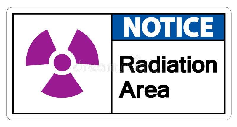 Isolat för tecken för symbol för meddelandeutstrålningsområde på vit bakgrund, vektorillustration stock illustrationer