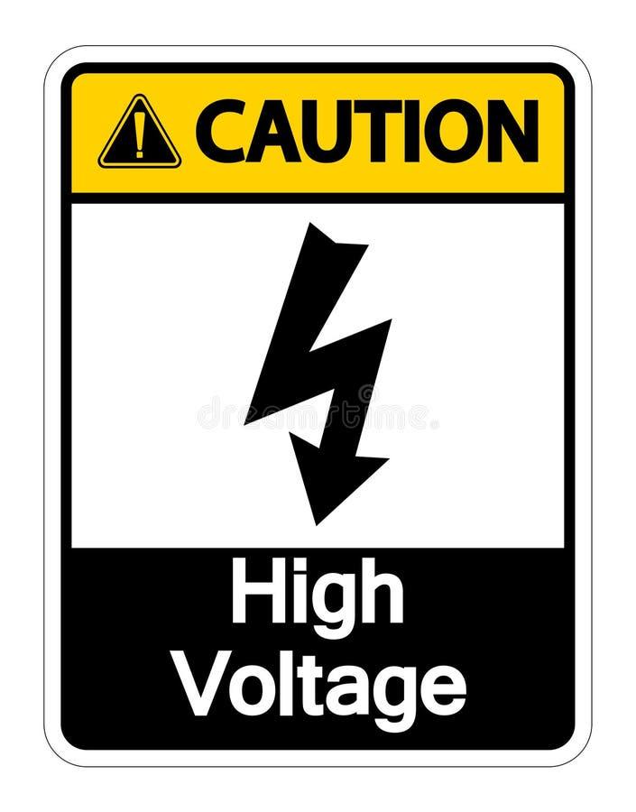 Isolat ? haute tension d'isolat de signe de pr?caution sur le fond blanc, illustration de vecteur illustration de vecteur