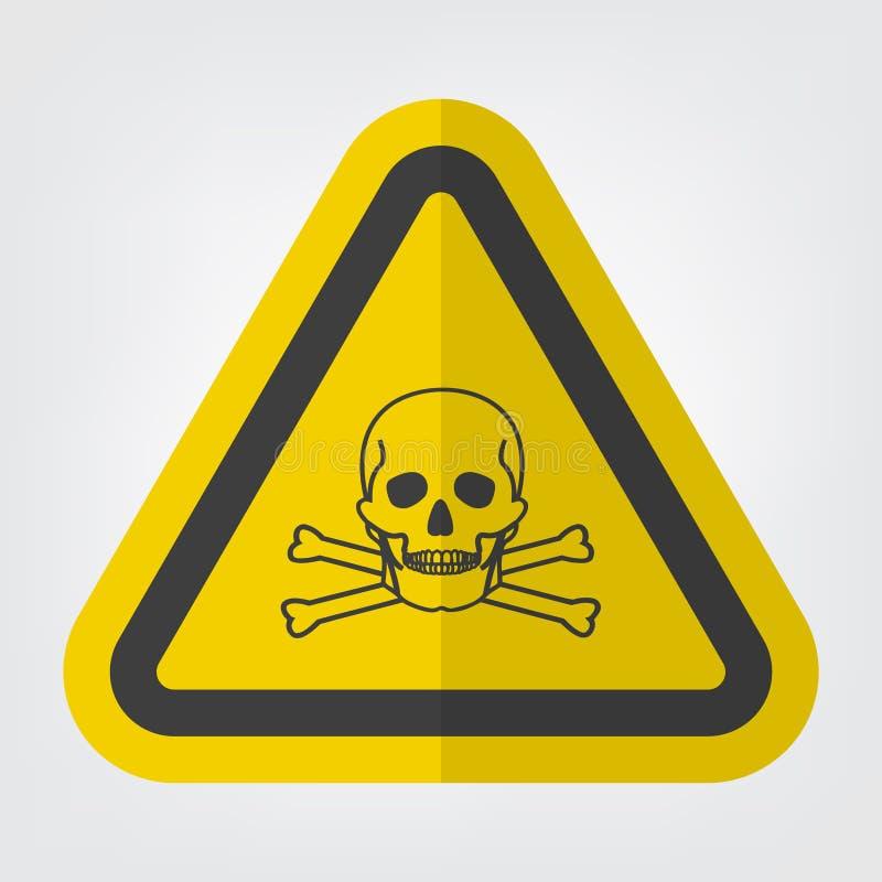Isolat matériel toxique de signe de symbole sur le fond blanc, illustration ENV de vecteur 10 illustration de vecteur