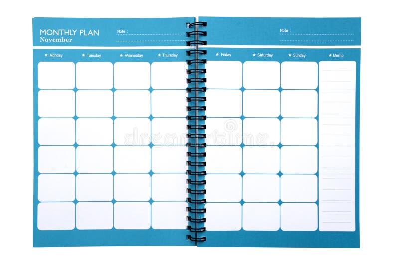 Isolat mensuel de planificateur (chemin de coupure) image libre de droits