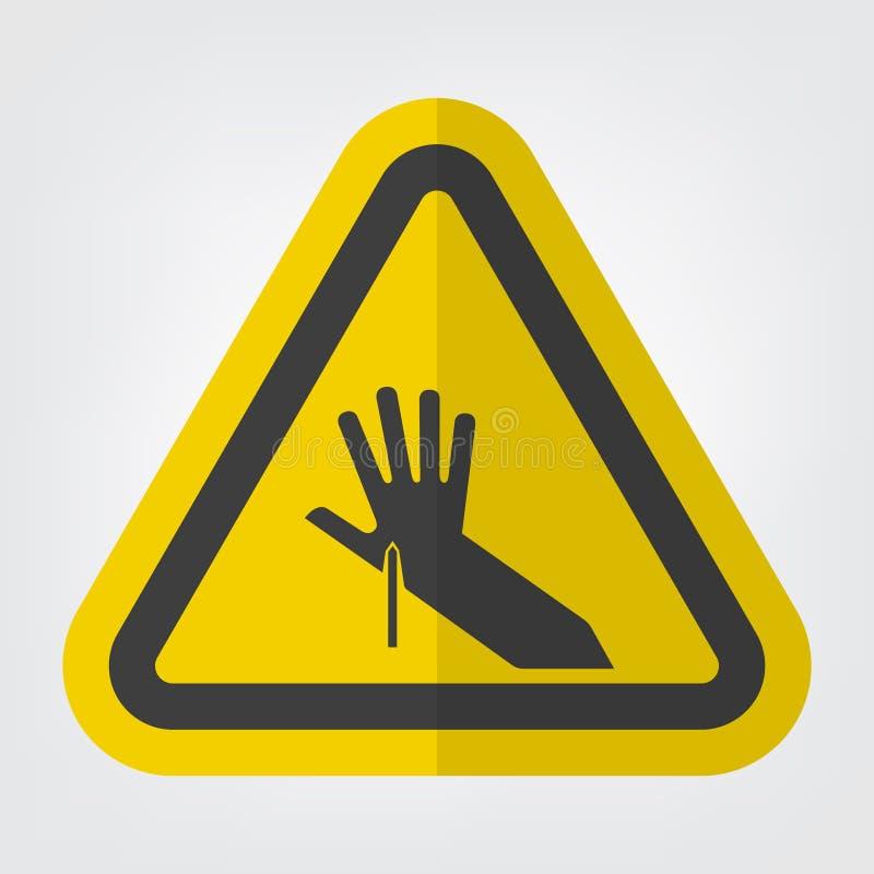 Isolat pointu de signe de symbole de point sur le fond blanc, illustration de vecteur illustration de vecteur