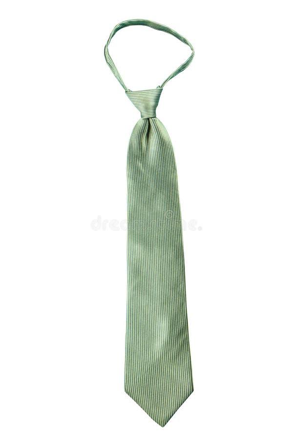 Isolat vert de cravate de fantaisie de rayure photo stock