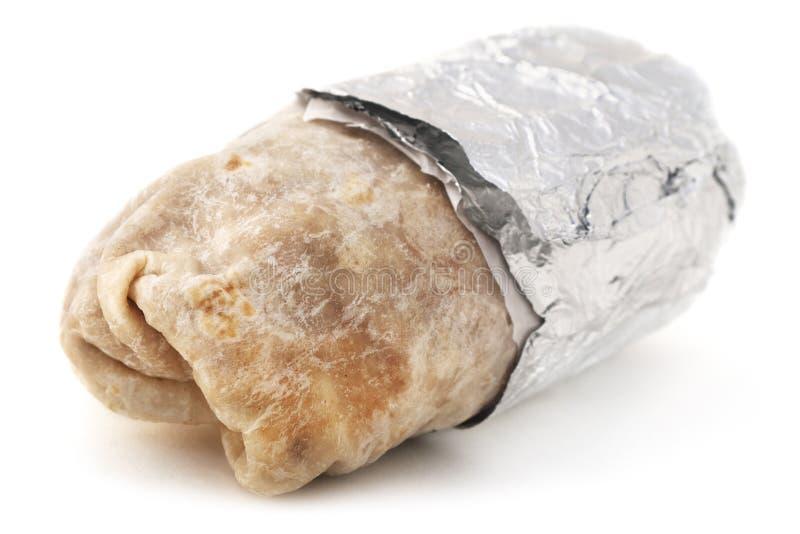 Isolatd Burrito royalty free stock image