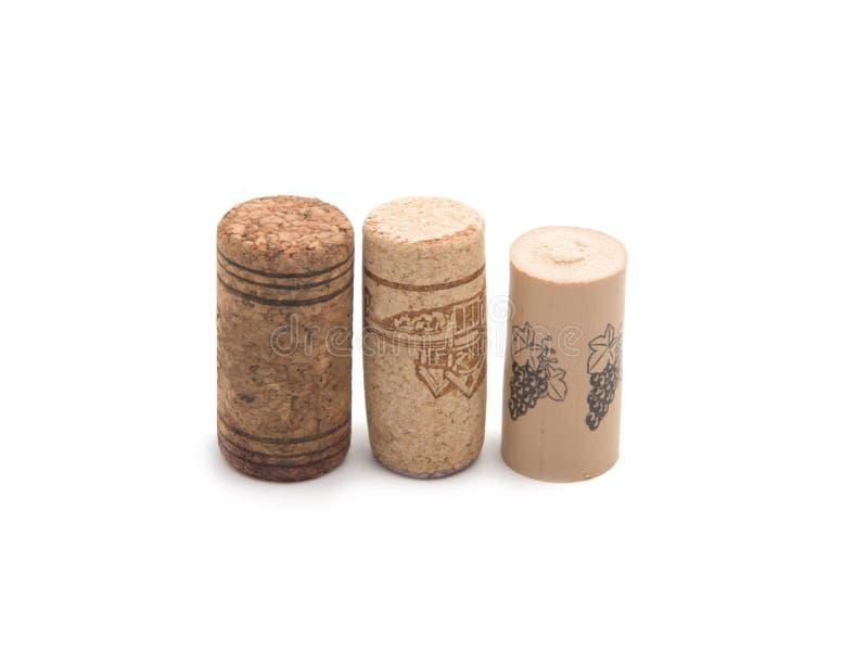 Isolatd del corcho del vino imagenes de archivo