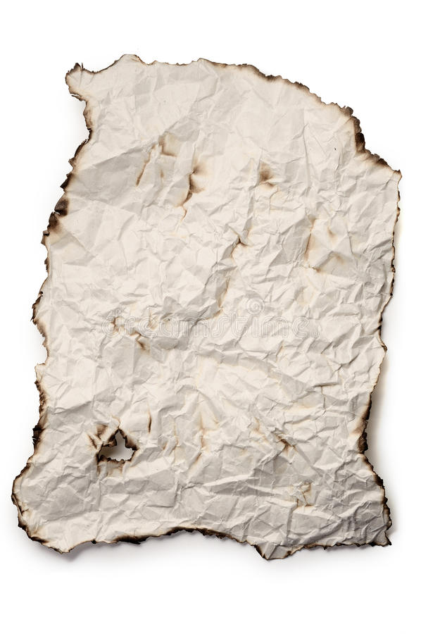 Download Isolate burnt rough paper stock photo. Image of sheet - 16838734