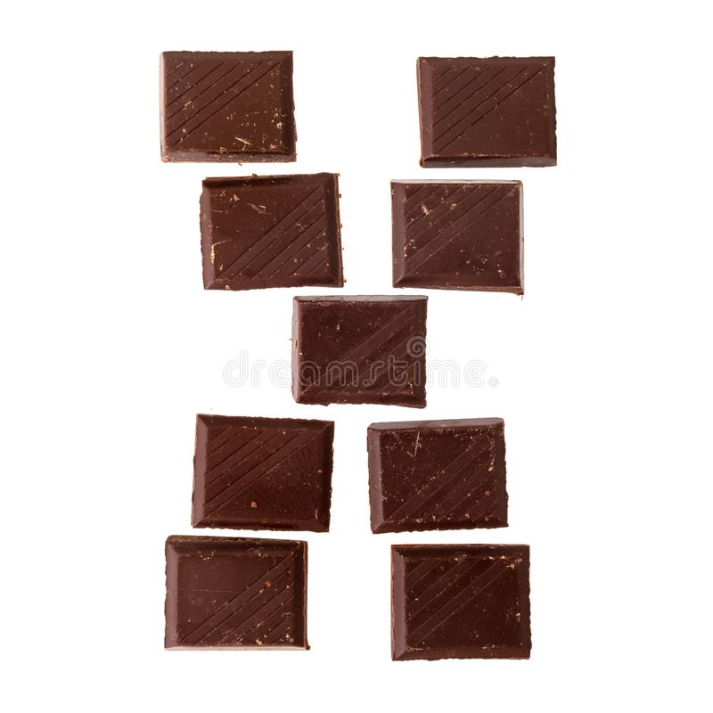 Isolate chocolate letter, alphabet. X- Isolate chocolate letter, alphabet on white background stock photography