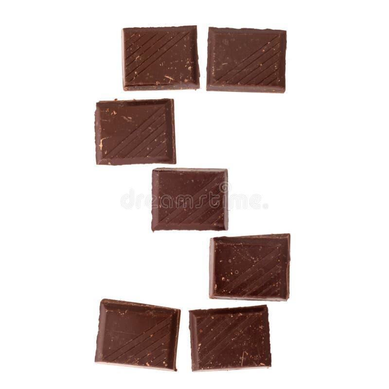 Isolate chocolate letter, alphabet. S- Isolate chocolate letter, alphabet on white background stock photos