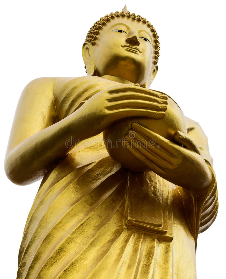 Isolate close to the Buddha alms. stock photography