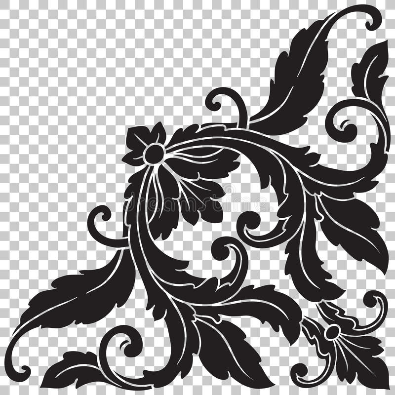 Isolate Corner Ornament In Baroque Style Stock Photo - Image of ...