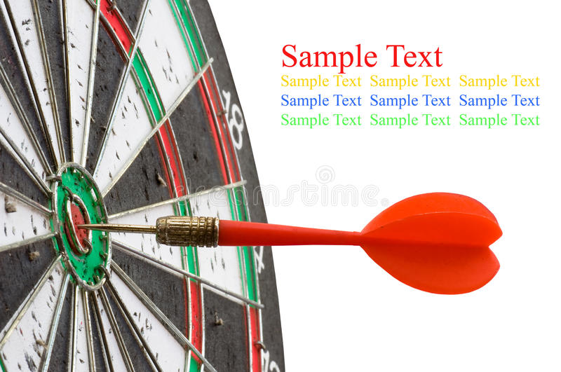 Isolate dartboard royalty free stock photography