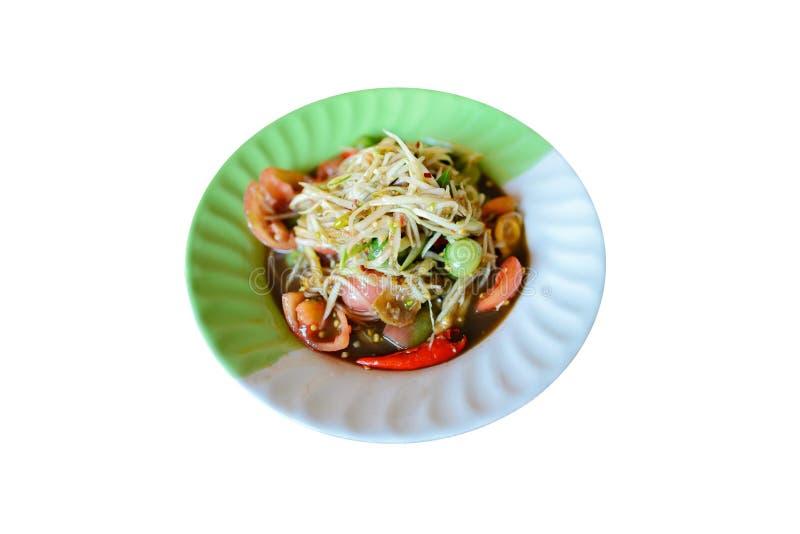 Isolate image of Thai papaya salad royalty free stock image