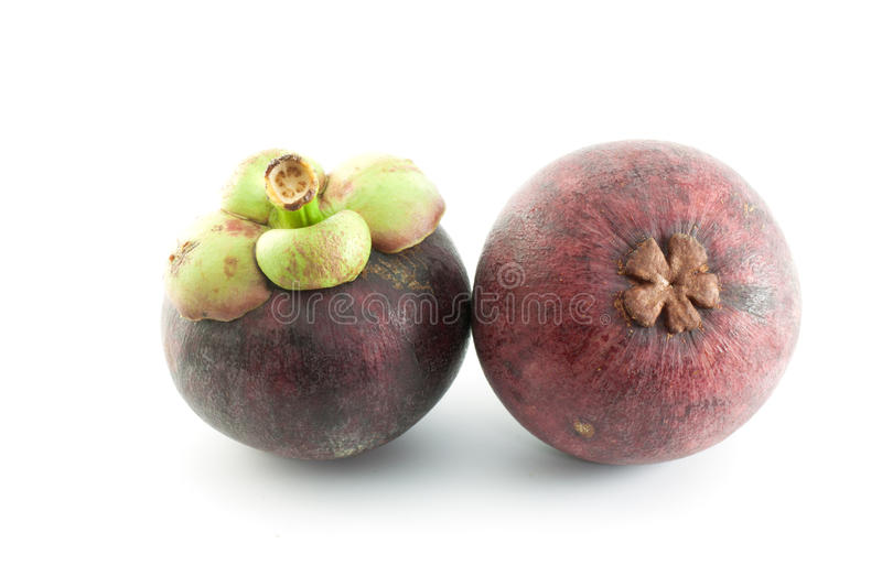 Download Isolate Mangosteen On White Background Stock Photo - Image: 24683878