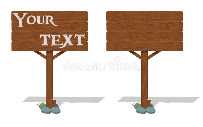 Isolate wooden signpost. On transparent background royalty free illustration