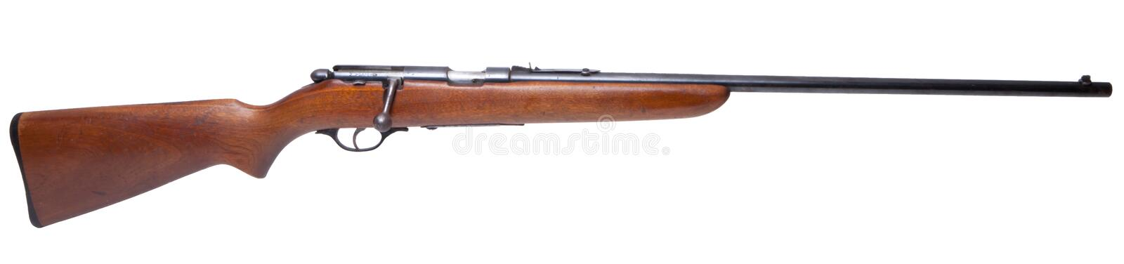 Isolated .22 Caliber Rifle Royalty Free Stock Images