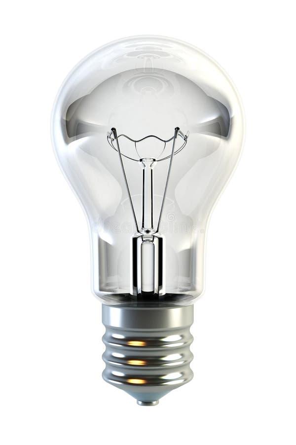 Isolated 3d bulb stock illustration