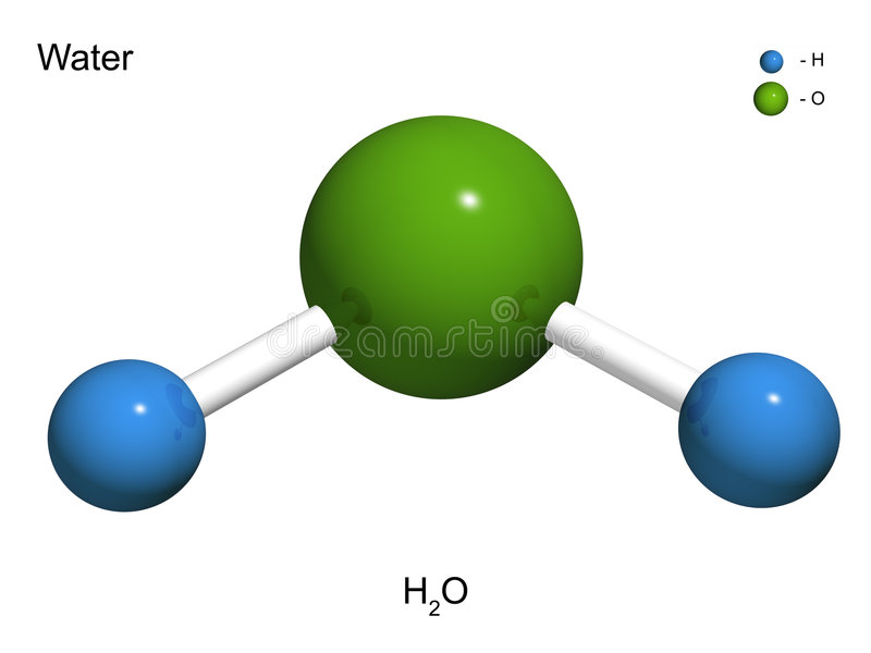 The isolated 3D model of water. On a white background royalty free illustration