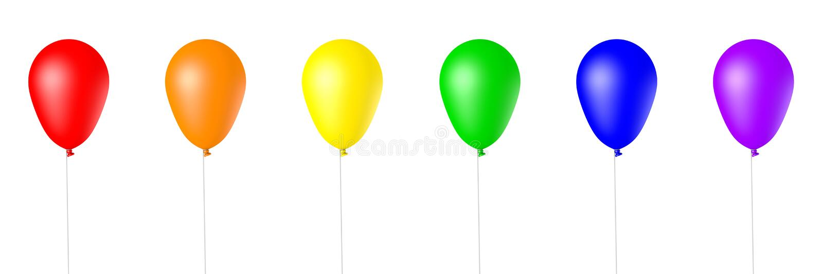 Isolated 3d Rendered Balloons stock illustration