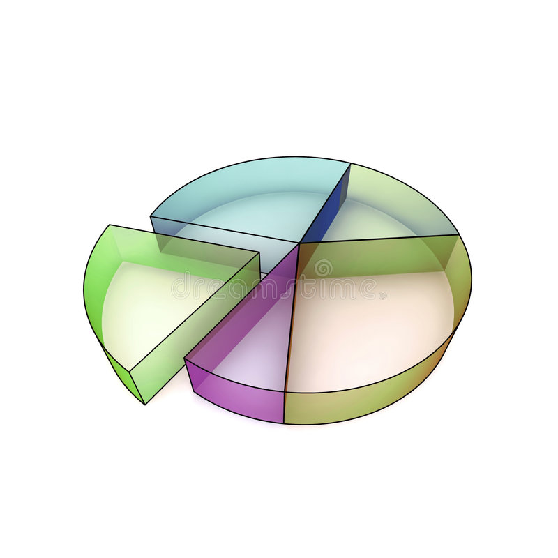 Isolated 3d statistics stock illustration