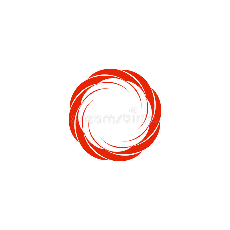 isolated abstract red color circular sun logo round shape logotype rh dreamstime com Simple Circle Swirl Designs Simple Circle Swirl Designs