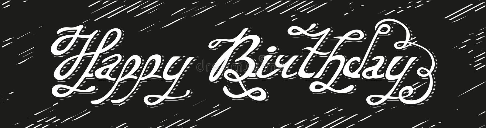 Isolated abstract white color happy birthday writing on black download isolated abstract white color happy birthday writing on black background handwritten calligraphic font m4hsunfo