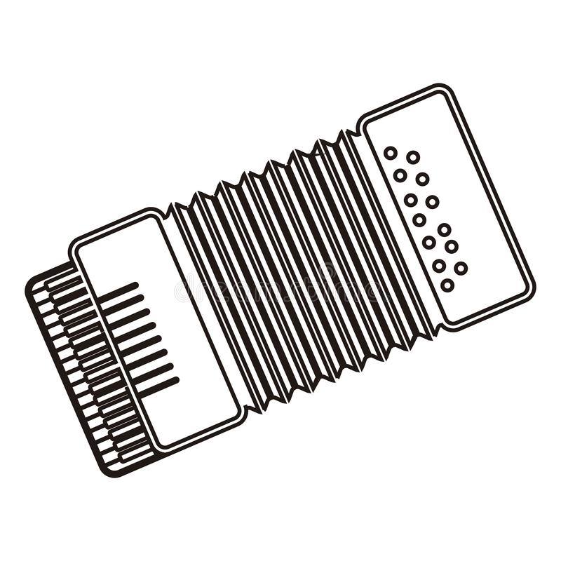 Isolated accordion icon vector illustration