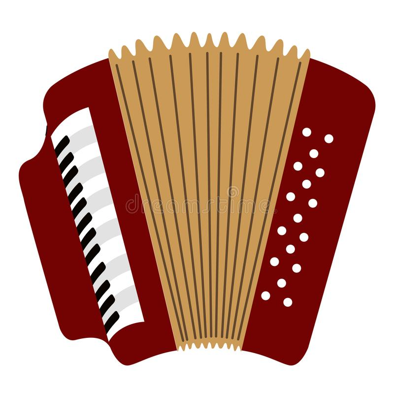 Isolated accordion icon. Musical instrument. Vector illustration design vector illustration