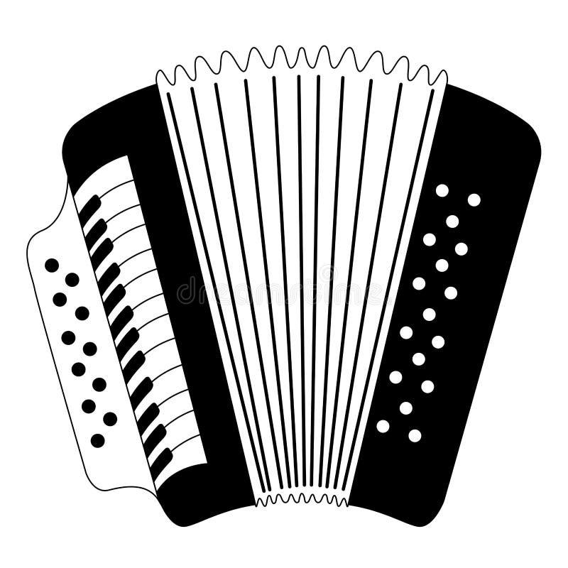 Isolated accordion icon. Musical instrument. Vector illustration design stock illustration
