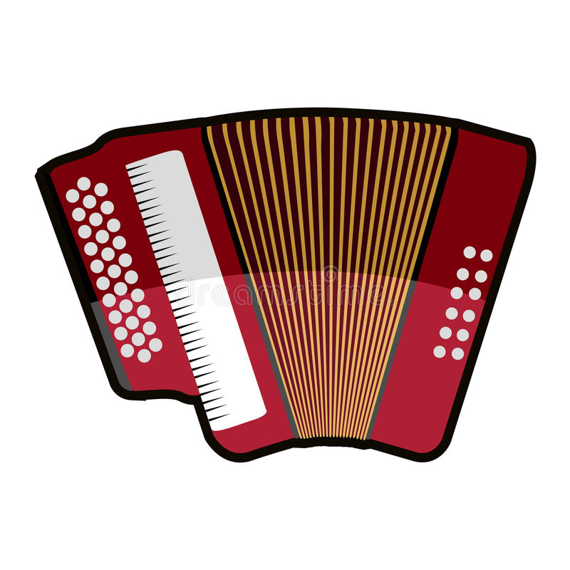 Isolated accordion icon. Isolated icon of an accordion, Vector illustration vector illustration