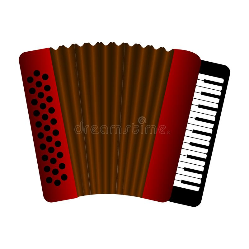 Isolated accordion. Musical instrument. Vector illustration design vector illustration