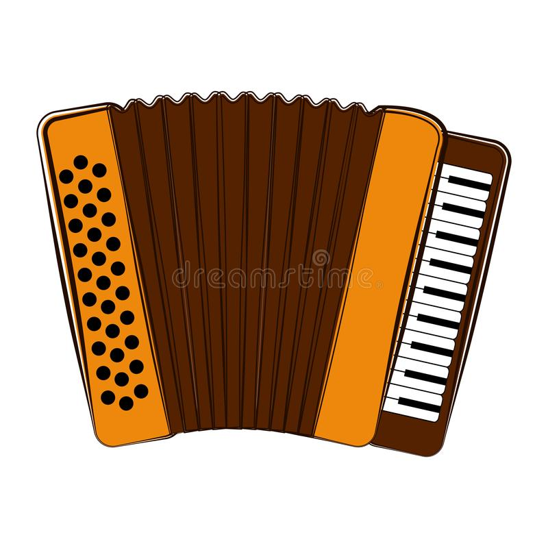 Isolated accordion sketch. Musical instrument. Sketch of an accordion. Musical instrument. Vector illustration design vector illustration