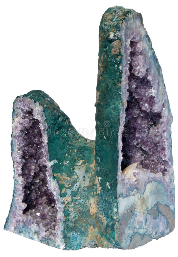 Download Isolated Amethyst Geode -  Total View Stock Image - Image: 19315165