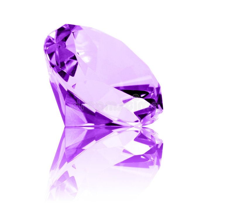 Isolated Amethyst Jewel stock photos