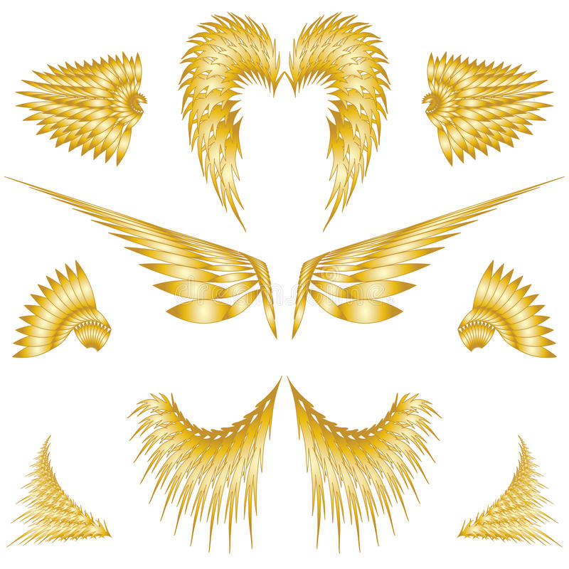 Isolated Angel Wings stock illustration