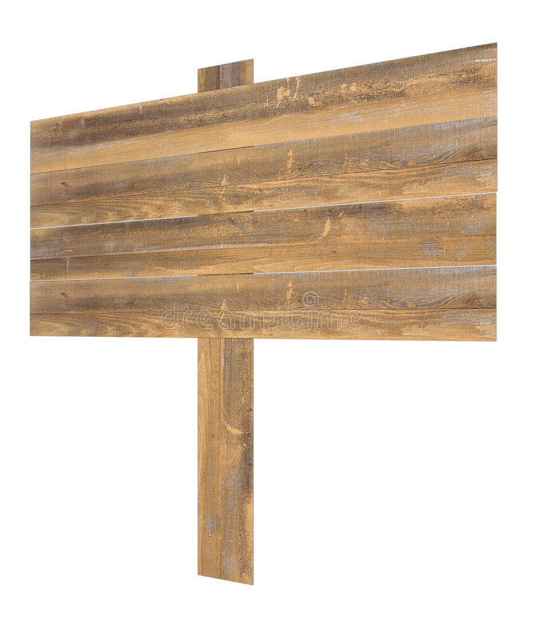 Free Isolated Angled Wooden Sign Royalty Free Stock Image - 9039366