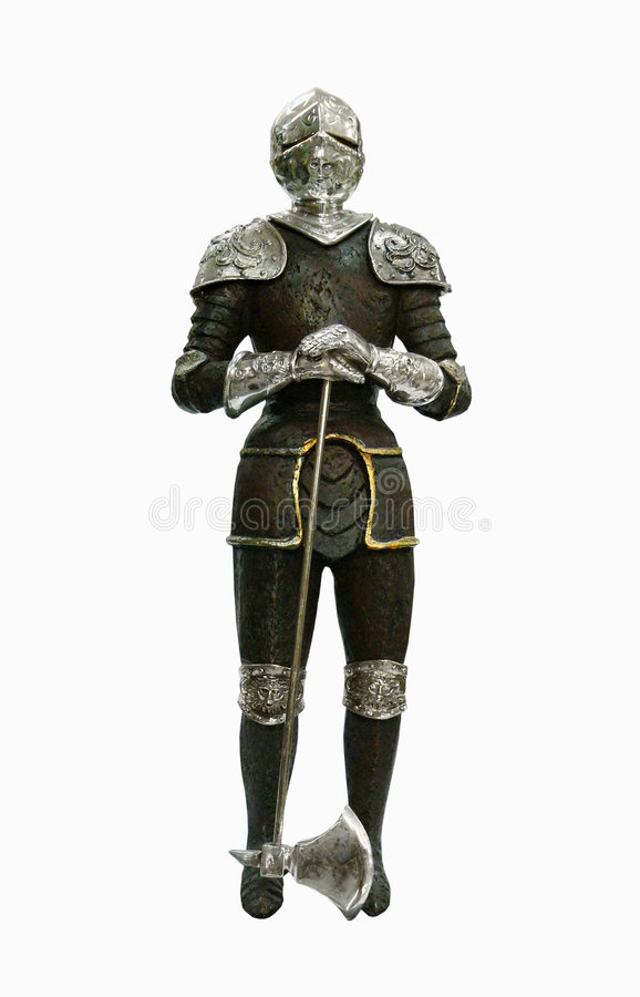 Isolated antique knight stock photos