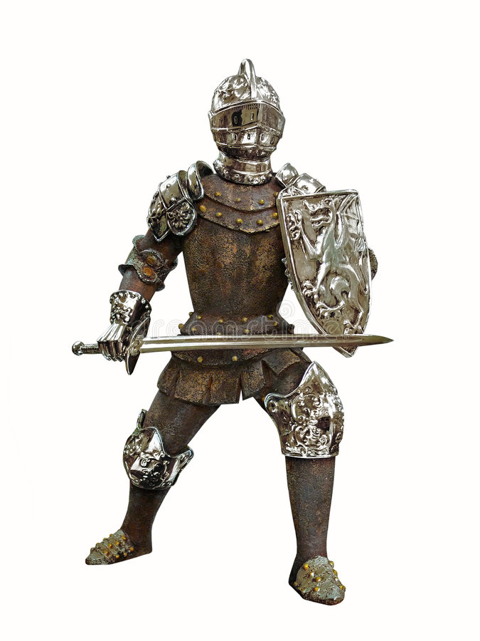 Isolated antique knight royalty free stock image